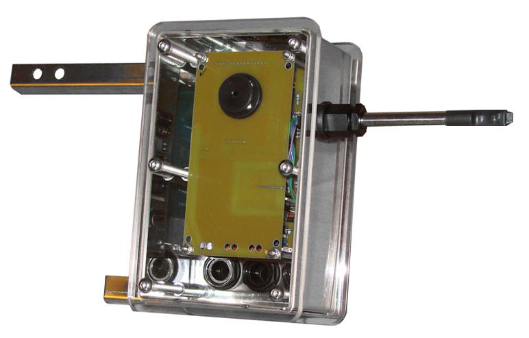 Caja con la electronica de seguimiento solar